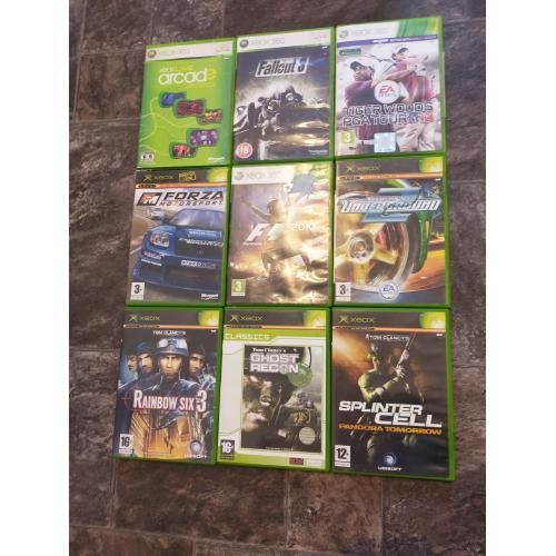 Bundle of 9 XBOX and XBOX 360 Games